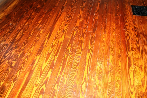 Beautiful original floor that I never expected to see on the second floor@