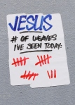 Powa Jesus Stickers