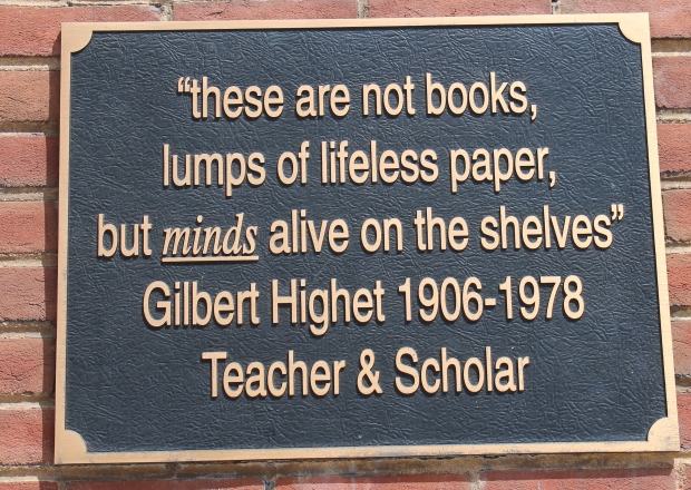 Plaque in front of Barnes & Noble