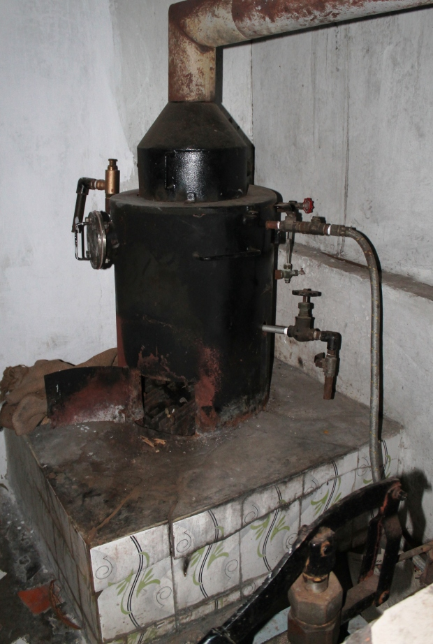 "The broken boiler for the ""soy cow"""