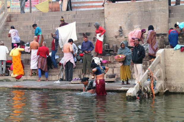 The polluted Ganges River