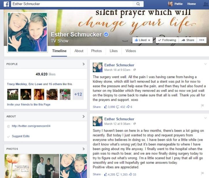 Her most recent Facebook status.