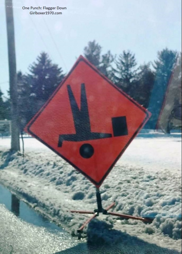 This Flagger sign just made my day. It's the little things in life.